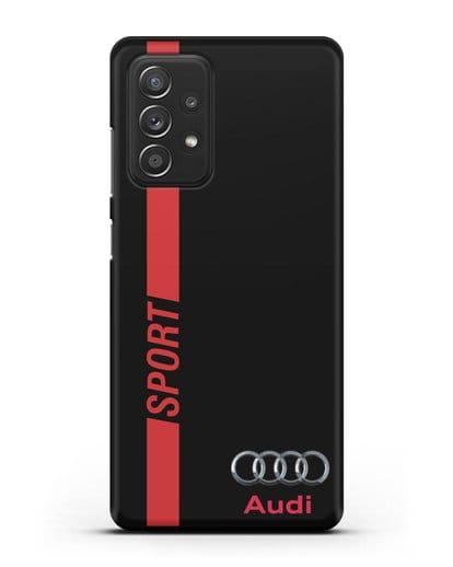 Чехол с надписью Audi Sport силикон черный для Samsung Galaxy A52 4G [SM-A525F]