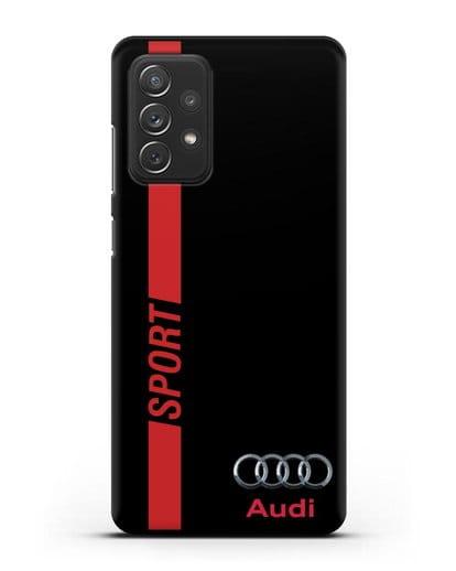 Чехол с надписью Audi Sport силикон черный для Samsung Galaxy A72 [SM-A725F]