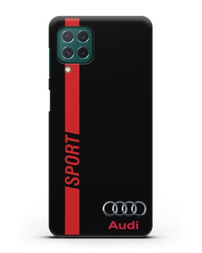 Чехол с надписью Audi Sport силикон черный для Samsung Galaxy M62 [SM-M625F]