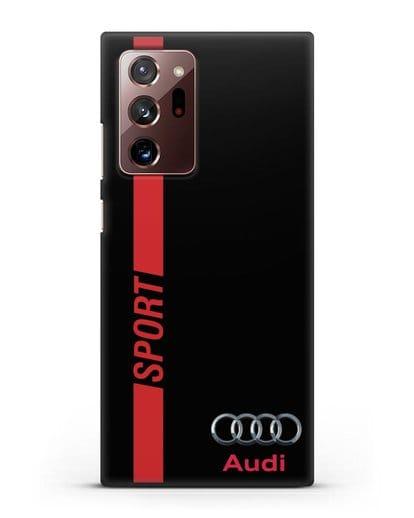 Чехол с надписью Audi Sport силикон черный для Samsung Galaxy Note 20 Ultra [SM-N985F]