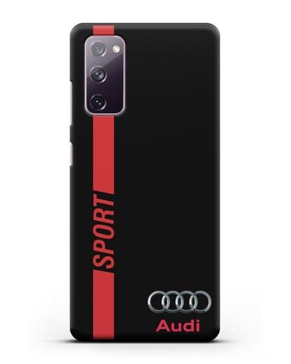 Чехол с надписью Audi Sport силикон черный для Samsung Galaxy S20 FE [SM-G780F]