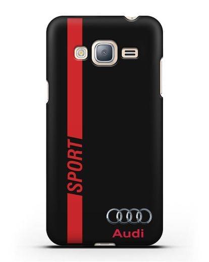 Чехол с надписью Audi Sport силикон черный для Samsung Galaxy J3 2016 [SM-J320F]