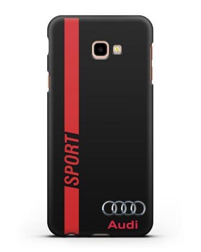 Чехол с надписью Audi Sport силикон черный для Samsung Galaxy J4 Plus [SM-J415]