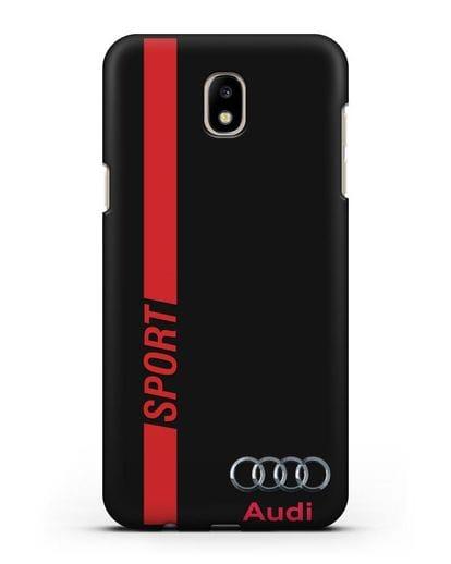 Чехол с надписью Audi Sport силикон черный для Samsung Galaxy J5 2017 [SM-J530F]