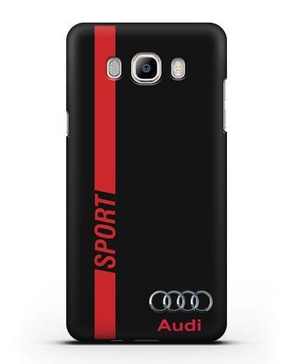 Чехол с надписью Audi Sport силикон черный для Samsung Galaxy J7 2016 [SM-J710F]