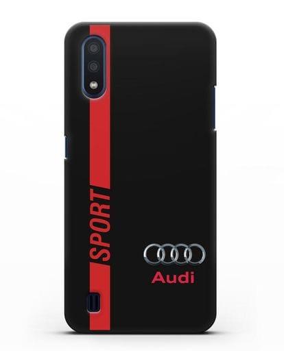 Чехол с надписью Audi Sport силикон черный для Samsung Galaxy M01 [SM-M015F]