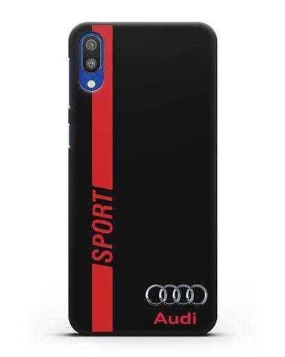 Чехол с надписью Audi Sport силикон черный для Samsung Galaxy M10 [SM-M105F]