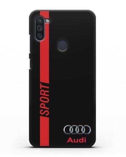 Чехол с надписью Audi Sport силикон черный для Samsung Galaxy M11 [SM-M115F]