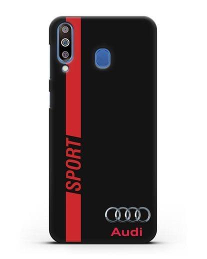 Чехол с надписью Audi Sport силикон черный для Samsung Galaxy M30 [SM-M305F]