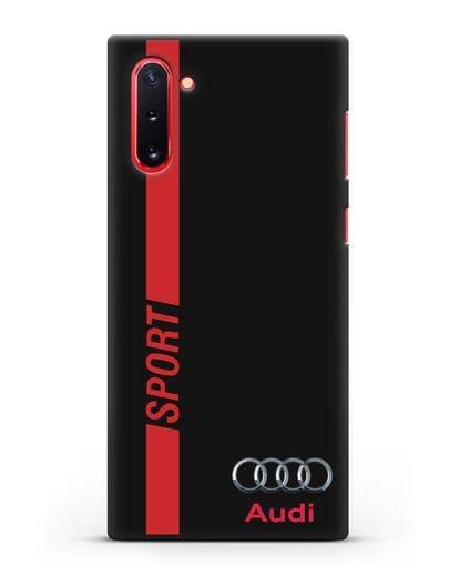 Чехол с надписью Audi Sport силикон черный для Samsung Galaxy Note 10 [N970F]