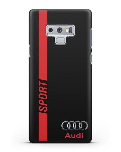 Чехол с надписью Audi Sport силикон черный для Samsung Galaxy Note 9 [N960F]