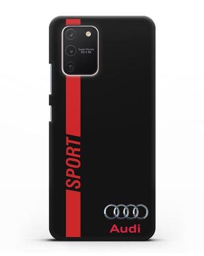 Чехол с надписью Audi Sport силикон черный для Samsung Galaxy S10 lite [SM-G770F]