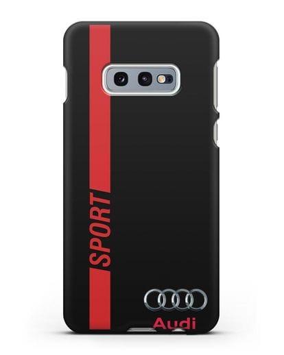 Чехол с надписью Audi Sport силикон черный для Samsung Galaxy S10e [SM-G970F]