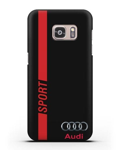Чехол с надписью Audi Sport силикон черный для Samsung Galaxy S7 [SM-G930F]