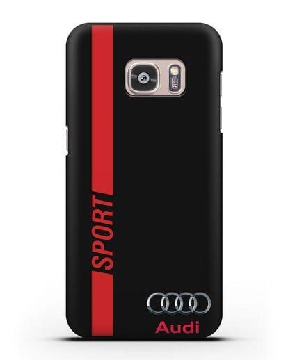 Чехол с надписью Audi Sport силикон черный для Samsung Galaxy S7 Edge [SM-G935F]