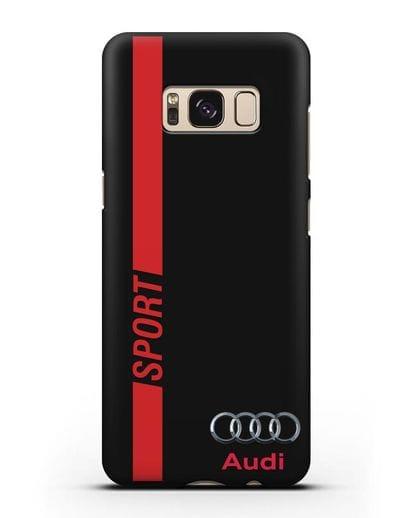 Чехол с надписью Audi Sport силикон черный для Samsung Galaxy S8 Plus [SM-G955F]