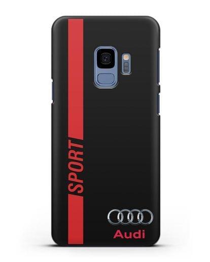 Чехол с надписью Audi Sport силикон черный для Samsung Galaxy S9 [SM-G960F]