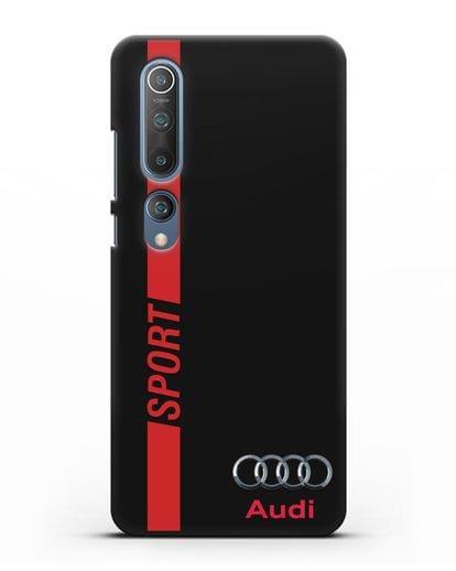Чехол с надписью Audi Sport силикон черный для Xiaomi Mi 10 Pro
