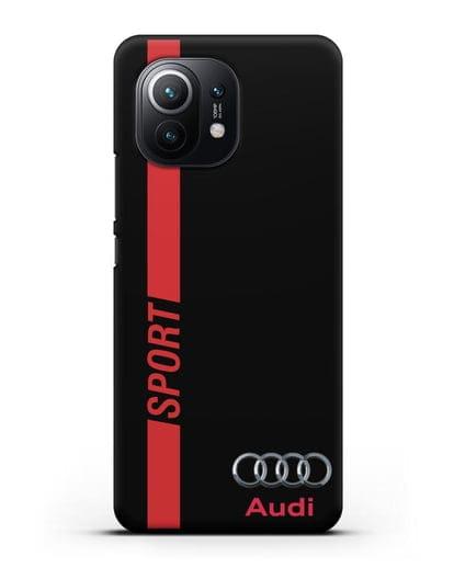 Чехол с надписью Audi Sport силикон черный для Xiaomi Mi 11