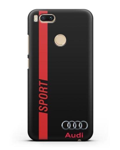Чехол с надписью Audi Sport силикон черный для Xiaomi Mi 5X