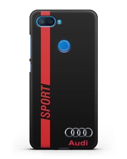 Чехол с надписью Audi Sport силикон черный для Xiaomi Mi 8 Lite