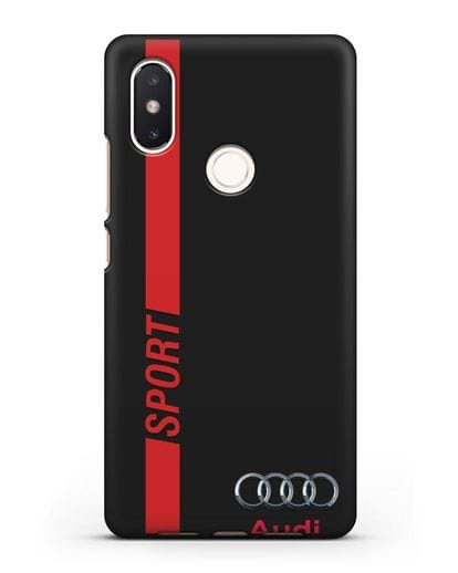 Чехол с надписью Audi Sport силикон черный для Xiaomi Mi 8 SE