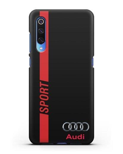 Чехол с надписью Audi Sport силикон черный для Xiaomi Mi 9