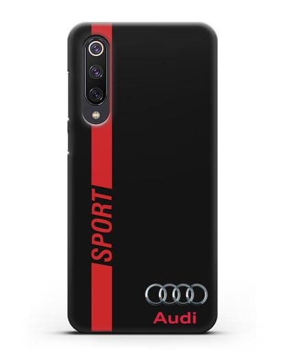 Чехол с надписью Audi Sport силикон черный для Xiaomi Mi 9 SE