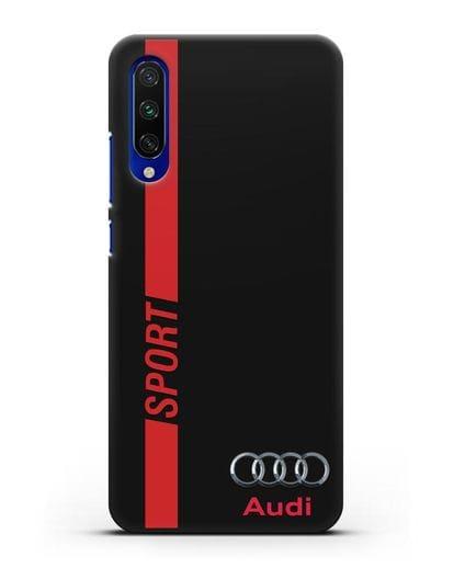 Чехол с надписью Audi Sport силикон черный для Xiaomi Mi CC9 E