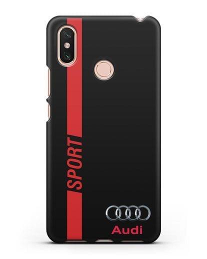 Чехол с надписью Audi Sport силикон черный для Xiaomi Mi Max 3