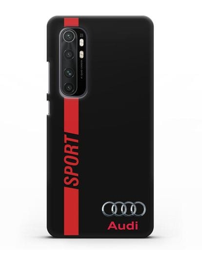 Чехол с надписью Audi Sport силикон черный для Xiaomi Mi Note 10 lite