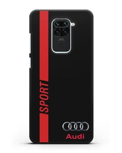 Чехол с надписью Audi Sport силикон черный для Xiaomi Redmi 10X
