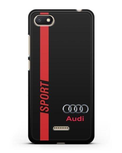 Чехол с надписью Audi Sport силикон черный для Xiaomi Redmi 6A