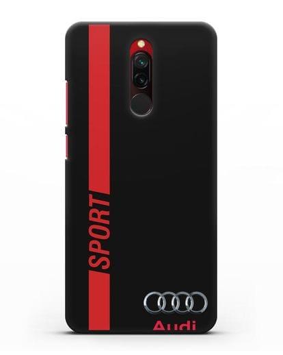 Чехол с надписью Audi Sport силикон черный для Xiaomi Redmi 8