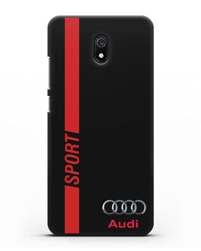 Чехол с надписью Audi Sport силикон черный для Xiaomi Redmi 8A