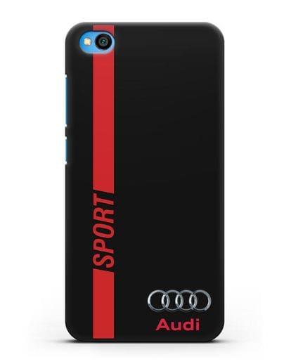Чехол с надписью Audi Sport силикон черный для Xiaomi Redmi Go