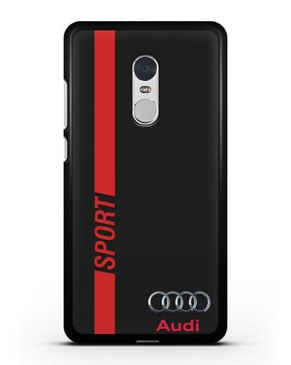 Чехол с надписью Audi Sport силикон черный для Xiaomi Redmi Note 4X