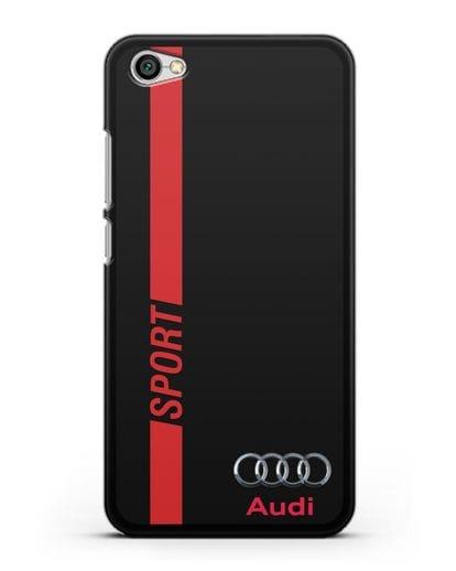 Чехол с надписью Audi Sport силикон черный для Xiaomi Redmi Note 5A