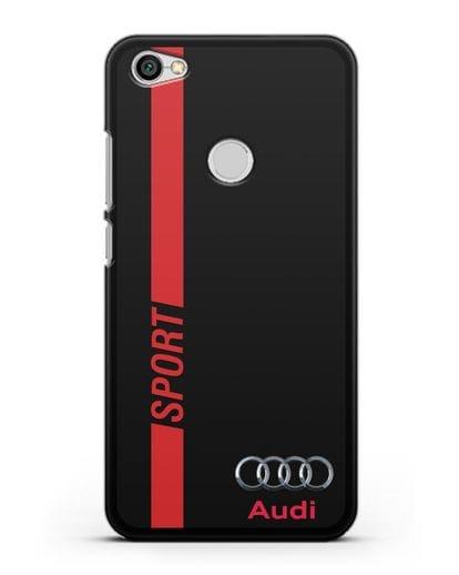Чехол с надписью Audi Sport силикон черный для Xiaomi Redmi Note 5A Prime