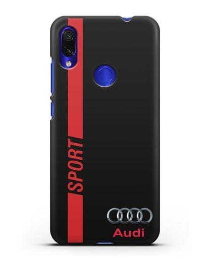 Чехол с надписью Audi Sport силикон черный для Xiaomi Redmi Note 7
