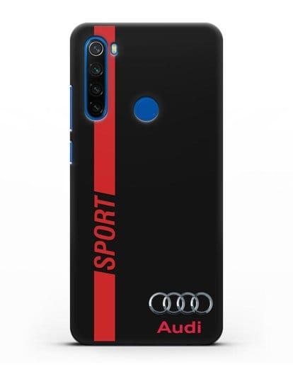 Чехол с надписью Audi Sport силикон черный для Xiaomi Redmi Note 8
