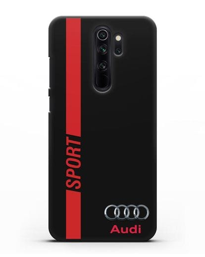 Чехол с надписью Audi Sport силикон черный для Xiaomi Redmi Note 8 Pro