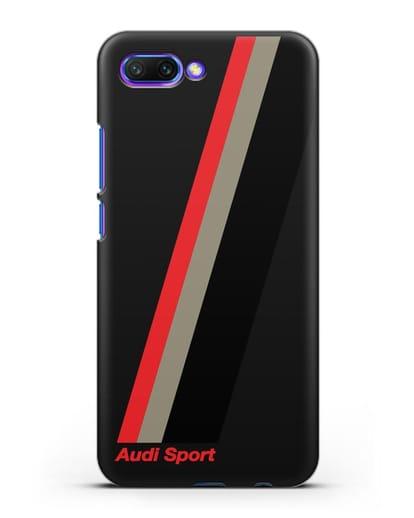 Чехол с логотипом Ауди Спорт силикон черный для Honor 10