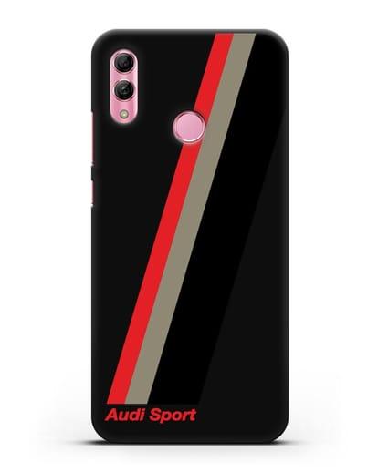 Чехол с логотипом Ауди Спорт силикон черный для Honor 10 Lite