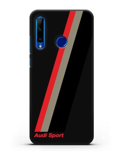 Чехол с логотипом Ауди Спорт силикон черный для Honor 10i