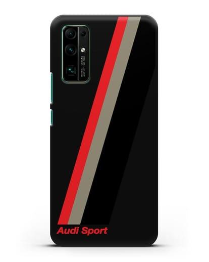 Чехол с логотипом Ауди Спорт силикон черный для Honor 30