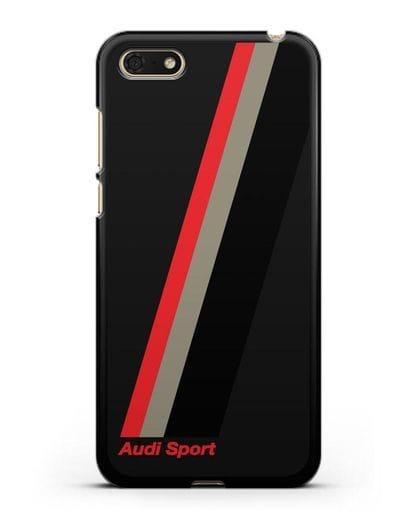 Чехол с логотипом Ауди Спорт силикон черный для Honor 7А