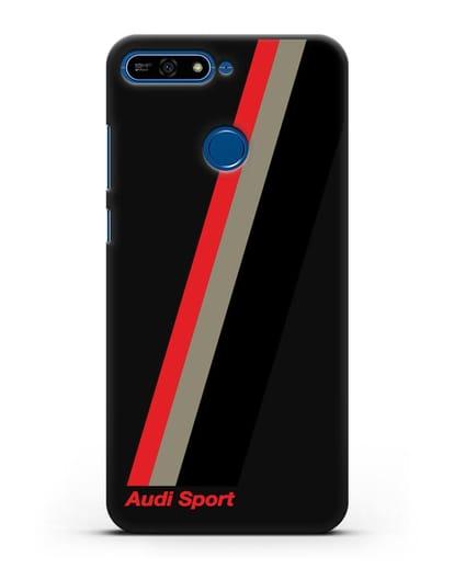 Чехол с логотипом Ауди Спорт силикон черный для Honor 7А Pro