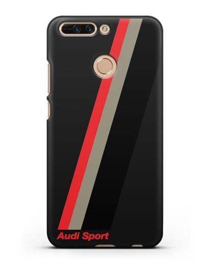 Чехол с логотипом Ауди Спорт силикон черный для Honor 8 Pro