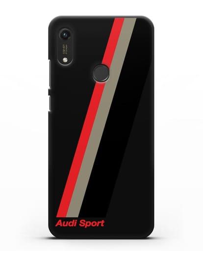 Чехол с логотипом Ауди Спорт силикон черный для Honor 8A Prime